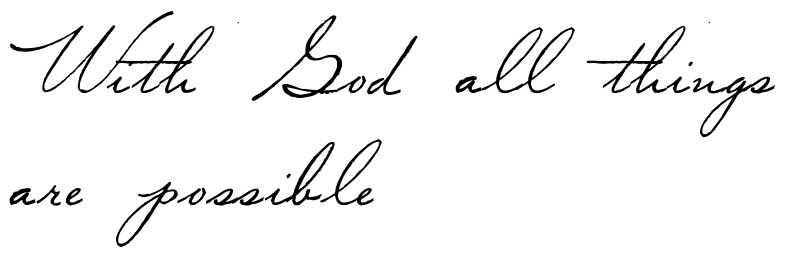 With God All Things Are Possible Tattoo Script Download Free Scetch