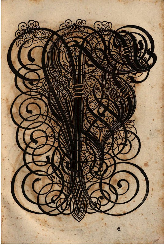 Paulus Franck - 'Schatzkammer Allerhand Versalien Lateinisch vnnd Teutsch', 1601 alphabet m