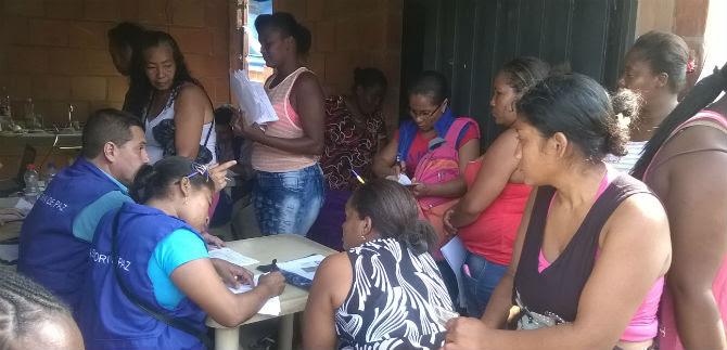 Asesoría de Paz realizó censo a 55 familias de Barrio Taller