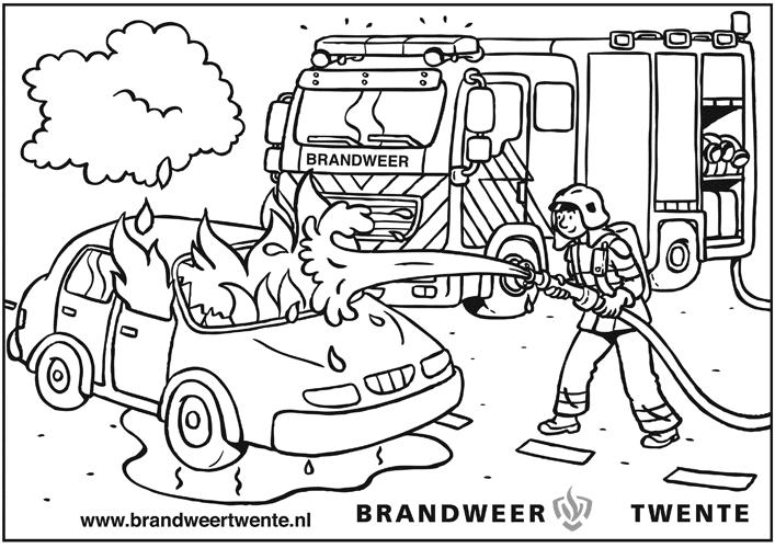 mewarnai mantap djiwa brandweer sirene kleurplaat