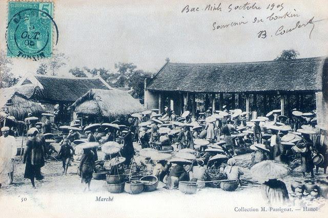 Chợ xưa ở Bắc Kỳ - 1905