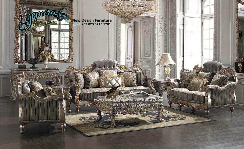 Sofa Ruang Keluarga Klasik Mewah Terbaru SST 079 Model Sofa Ruang