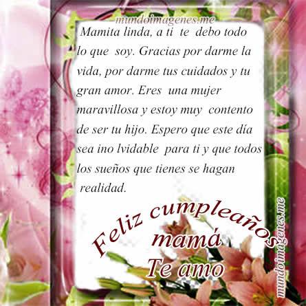 Imagenes De Feliz Cumpleanos Mama Con Frases Bonitas Mundo