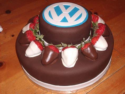 VW logo Groom cake