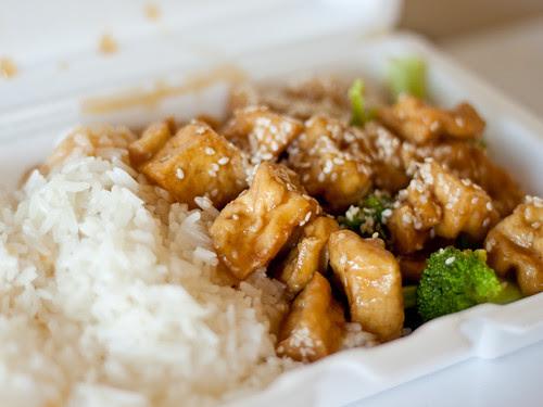 Sesame tofu (Kim's Oriental)