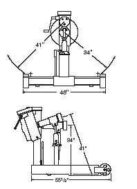 OTC 1750A Revolver Diesel Engine Stand 6000 Industrial