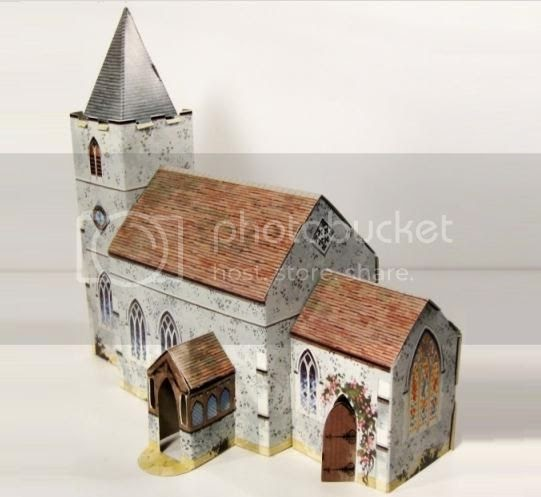 Toys For Church : Papermau kellogg s uk paper village the church by toy