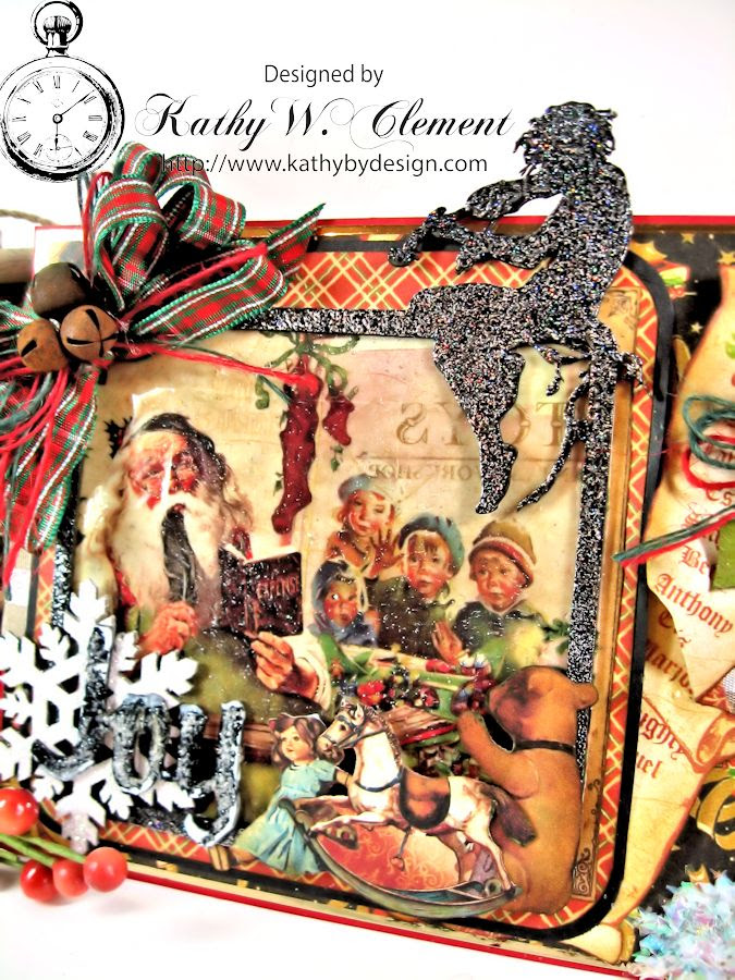 Christmas Emporium Easel card for Gypsy Soul Laser Cuts 03