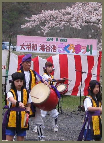 23 first sakura matsuri Takitani pond