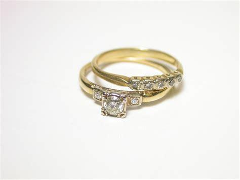 Resreved 1940's Wedding Ring Set   Vintage Wedding Rings