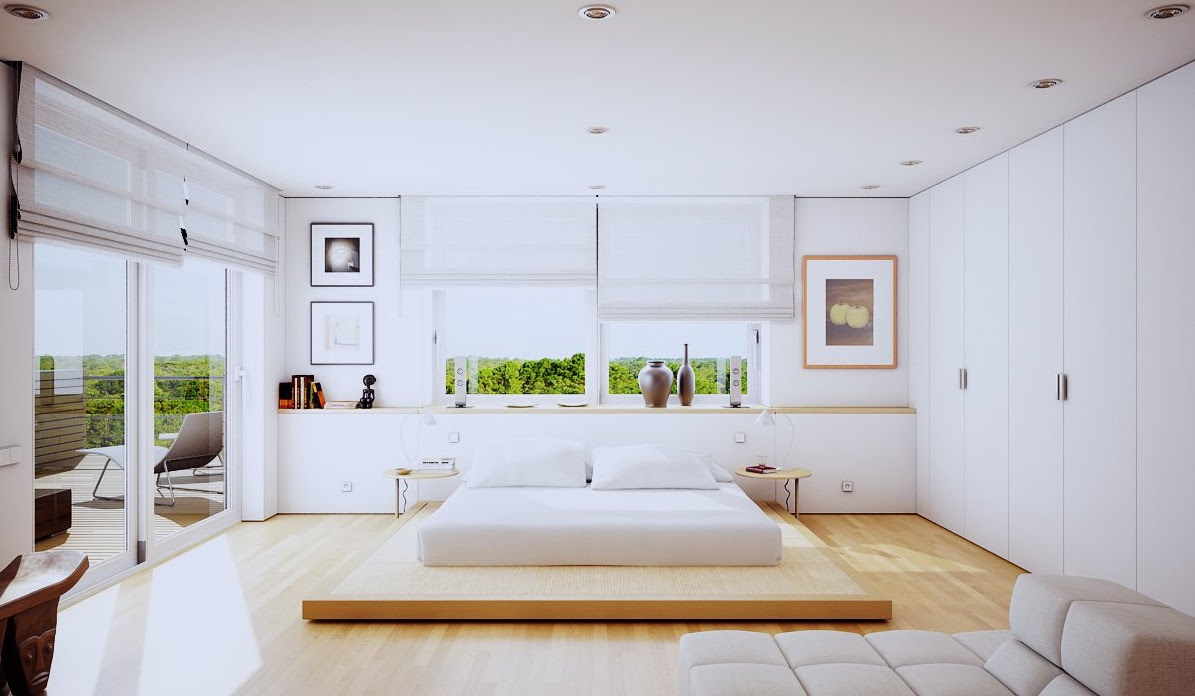 modern bedroom architecture