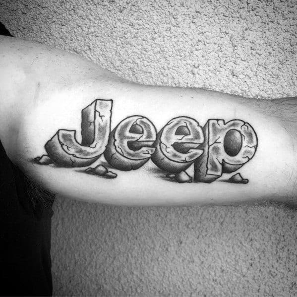 Jeep Tattoo Designs For Men