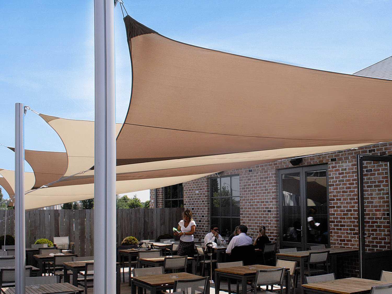 Luxury Umbrellas Ingenua 10 Foot Square Anodized Aluminum ...