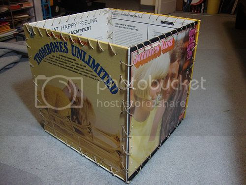 Vinyl record cover box