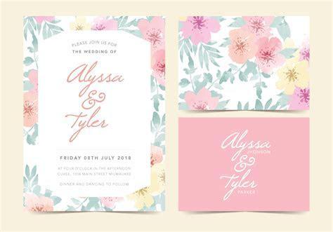 Floral Vector Wedding Invite   Download Free Vector Art