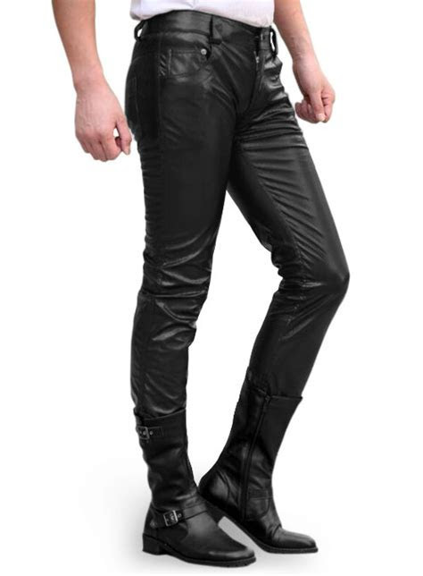 Faux Black Stretch Leather Jeans : MakeYourOwnJeans®: Made