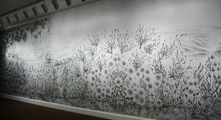 Impressionante mural pintado a dedo 05
