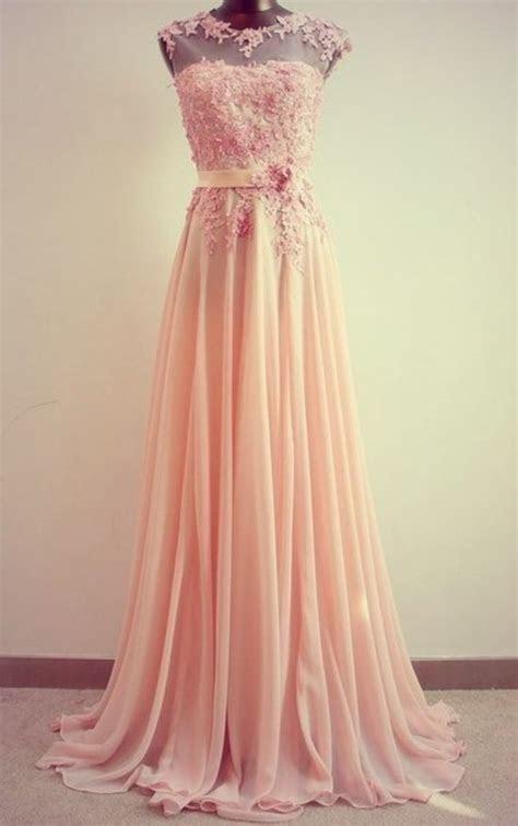 shoulder simple light pink long prom dress ebay