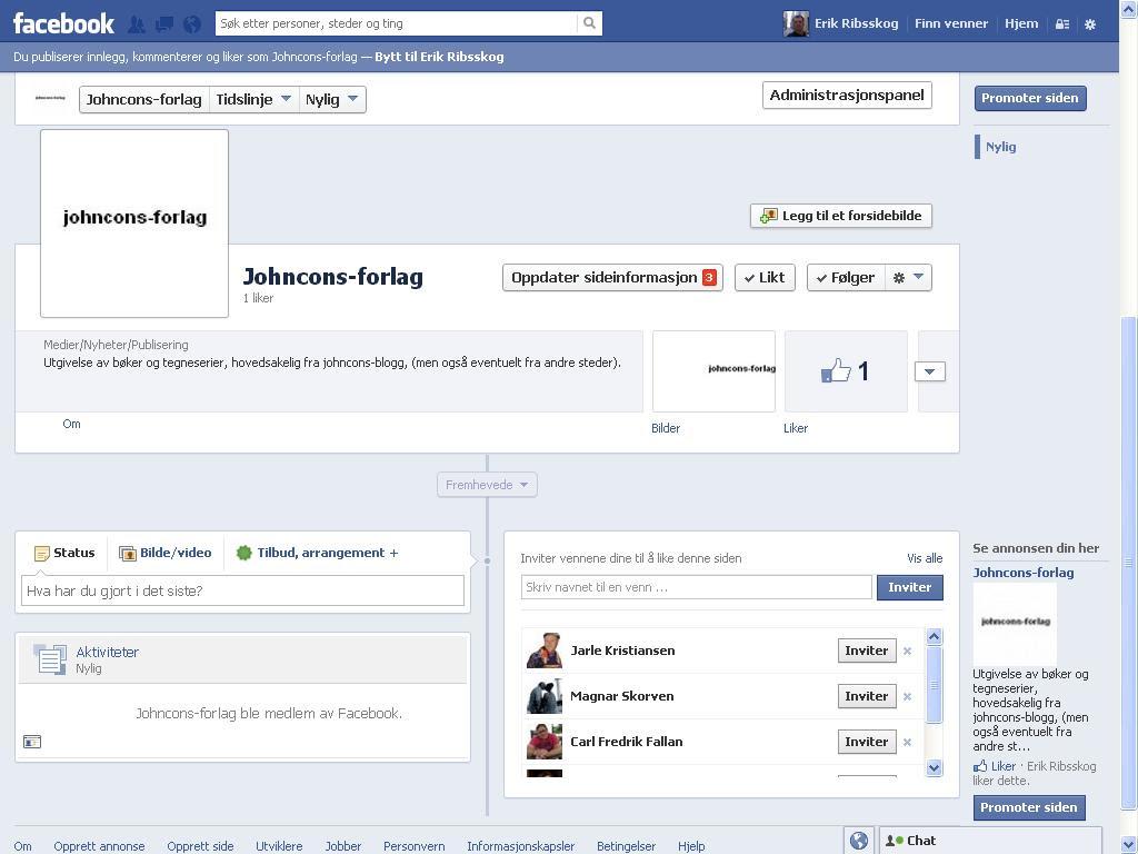 mer om johncons-forlag på facebook