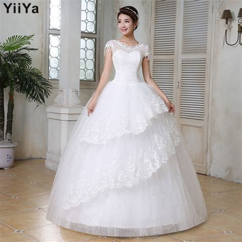 Free shipping wedding dresses 2015 white plus size lace