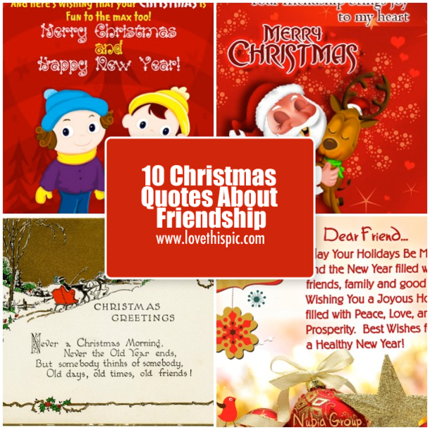 10 Christmas Quotes About Friendship