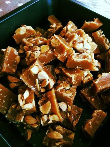 almond vanilla toffee