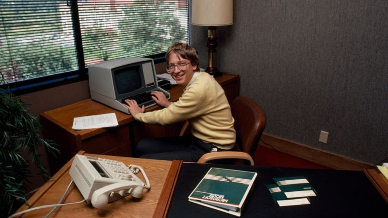 Bill Gates in his younger years