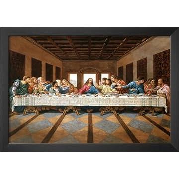 Professionally Framed Last Supper Art Print Poster Jesus Christ