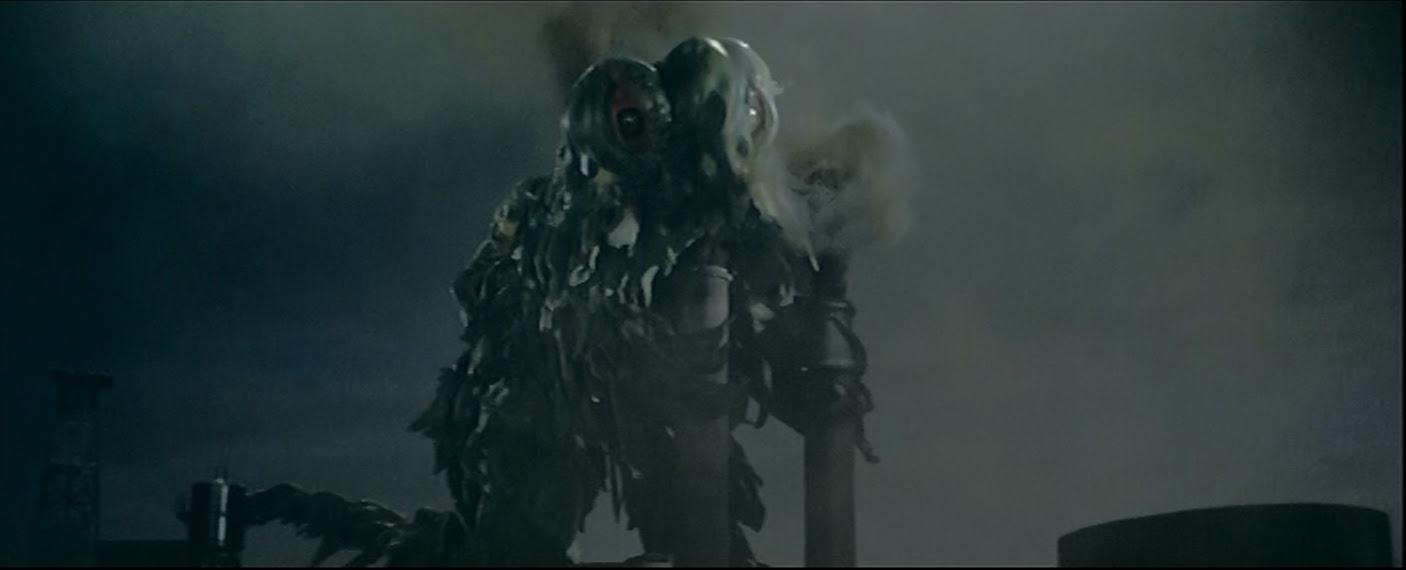 Hedorah take a hit of Ol' factory Smog.