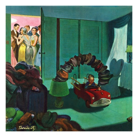 """Hat Bridge"", January 25, 1958 Giclee Print by Thornton Utz at Art.com"