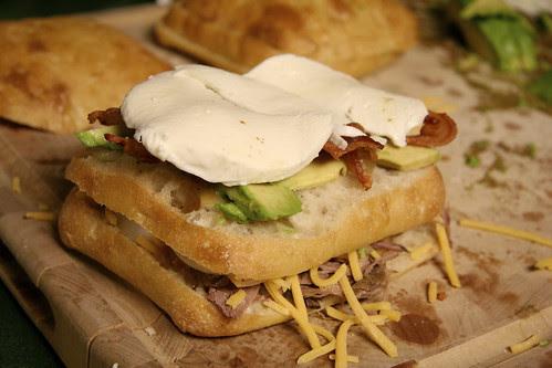 Grilled Roast Beef Club Sandwich