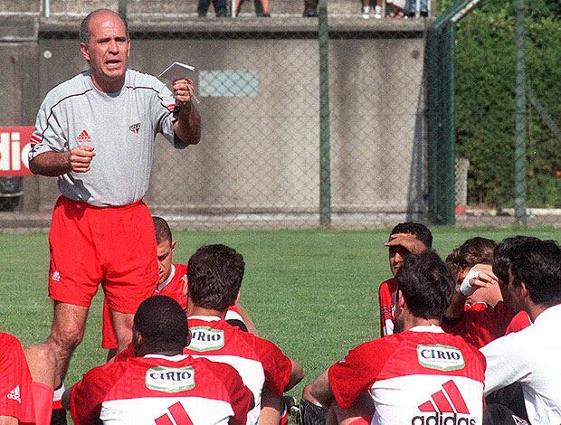 Mário Sérgio treino São Paulo 1998 (Foto: Ag. Estado)