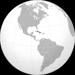 Vị trí của Cuba