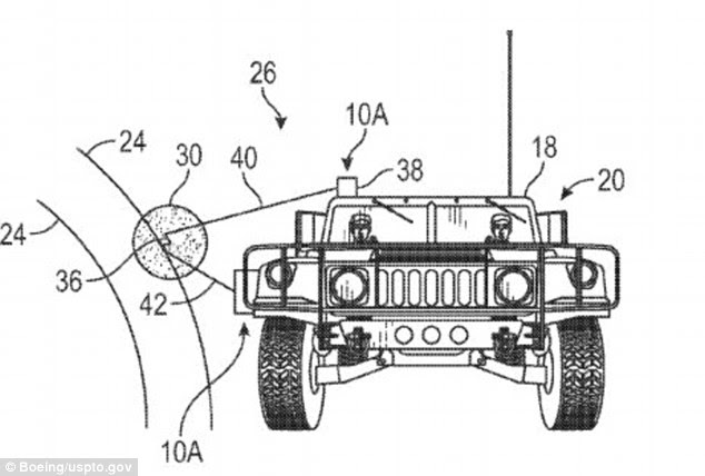 Boeing's patent proposes using lasers (shown above) or microwaves to create plasma to slow the shockwave