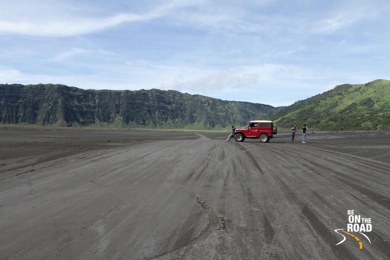 Admiring the terrain of Bromo volcano, Indonesia
