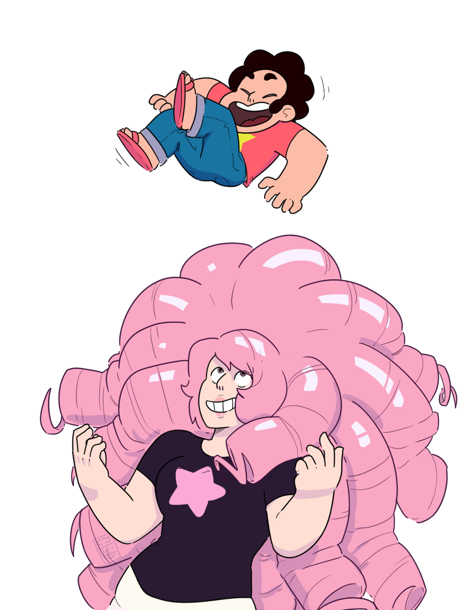 I'm good, though maybe not cool. It's still august here. I don't really know why I like drawing Steven Universe. There's a lot of stuff about it. I like the show, I like the character design, the art...