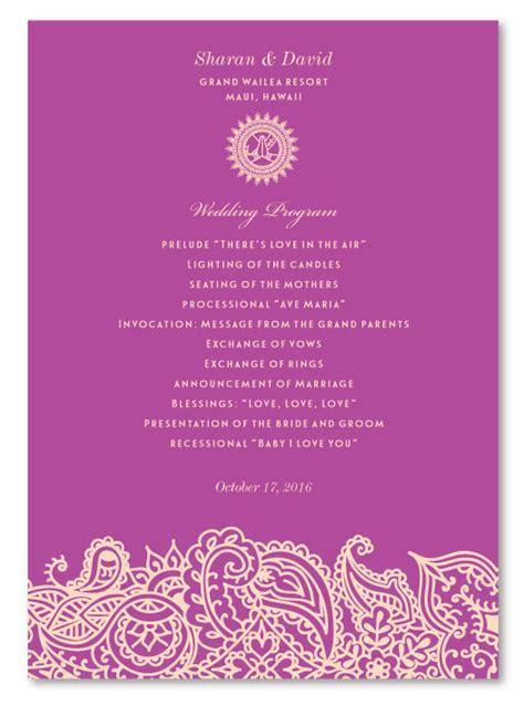 Indian Wedding Programs   Bombay
