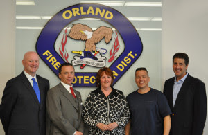 Orland Fire Protection District Board members, from left, John Brudnak, Jim Hickey, Jayne Schirmacher, Chris Evoy and Blair Rhode.
