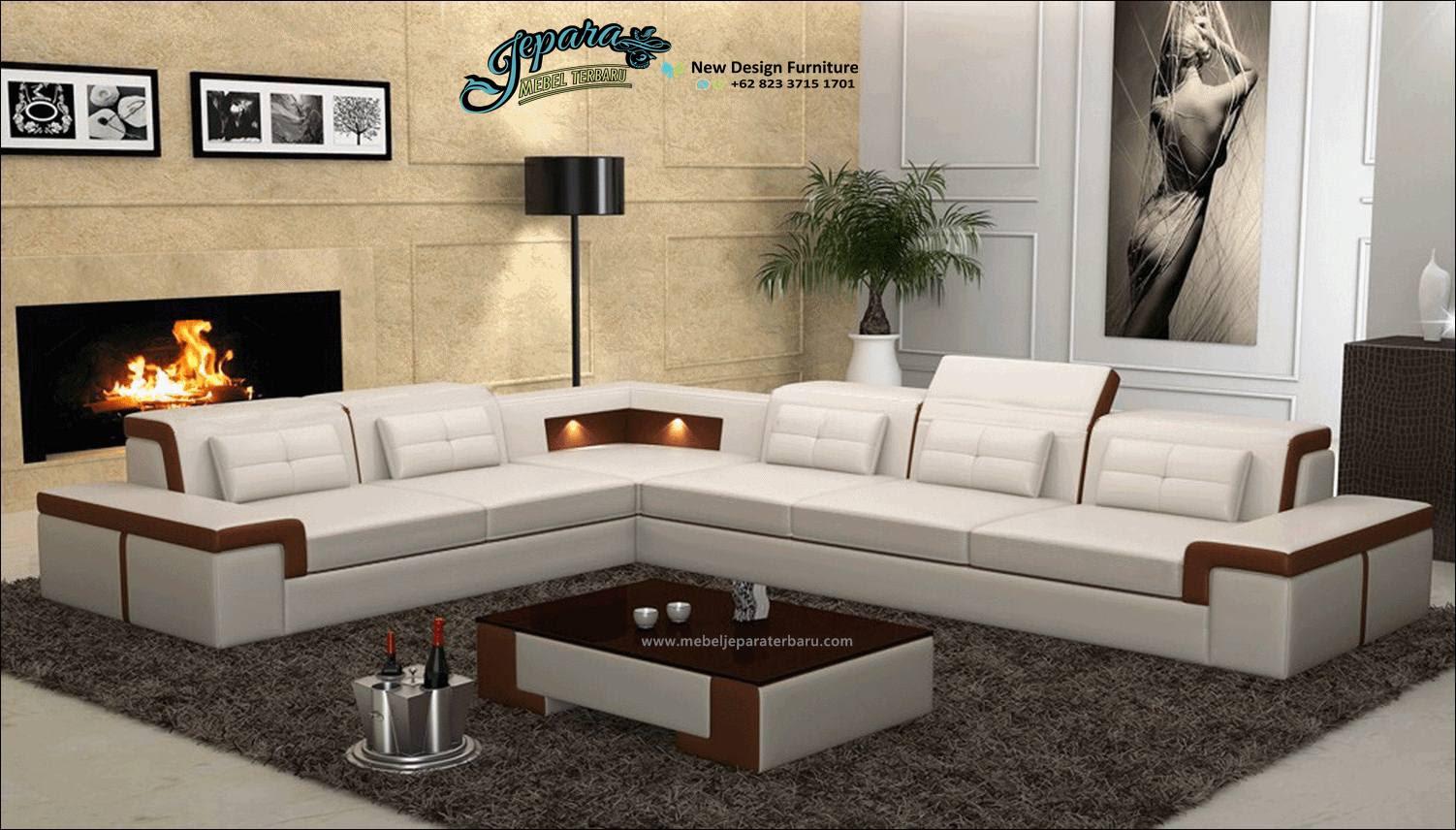 Sofa Tamu Sudut Minimalis Modern Mewah Terbaru Slide SST 119 Sofa