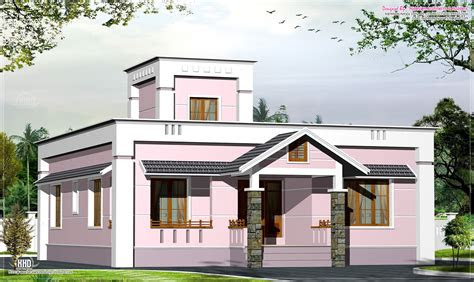 eco friendly houses  sqfeet small budget villa plan