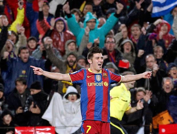 david villa barcelona gol real madrid