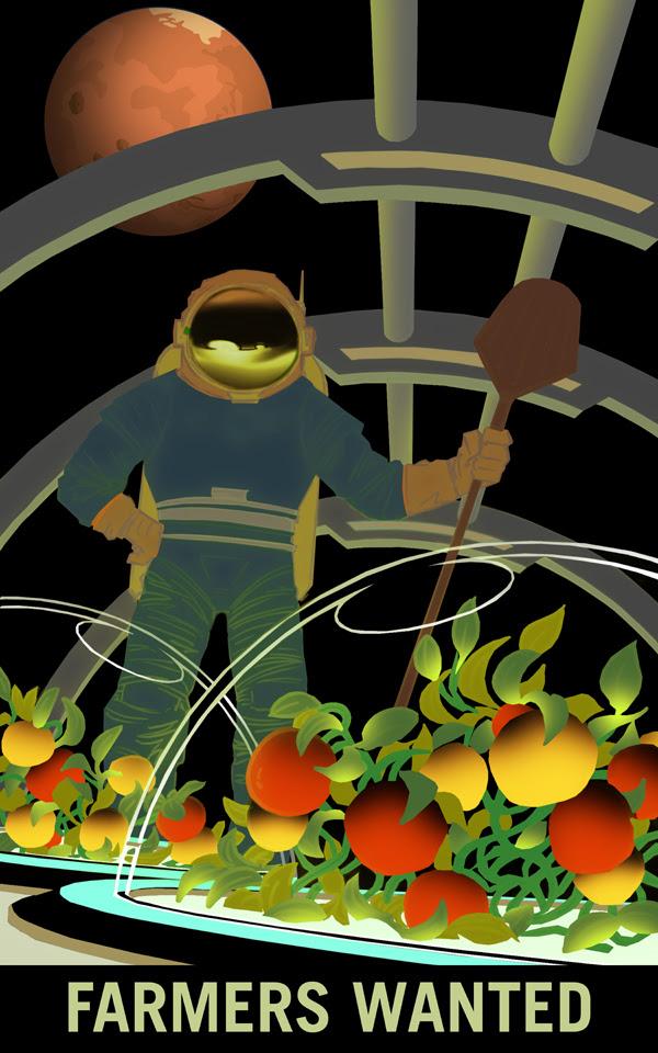 Những nông dân cần cù vì mùa màng trên Sao Hỏa. Bạn đang sở hữu những cánh đồng trải dài đến chân trời? Giờ đây, bạn có thể trồng được cà chua, rau diếp hay đậu Hòa Lan, cũng như những giống rau củ quả hoàn toàn mới ngay trong khu vườn của bạn trên Hỏa Tinh. Những thực phẩm bạn gieo trồng sẽ cung cấp nguồn sống cho các nhà thám hiểm Sao Hỏa. Credit: NASA/KSC.