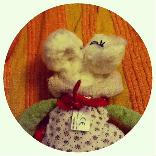 It had a #brain .. #repairing a #toy #bunny for friends .. #craftstuff