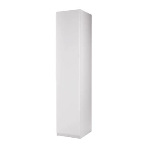 PAX Garderobe m 1 dør IKEA Døren kan monteres med åpningen mot venstre eller høyre. Justerbare føtter for stabil plassering.