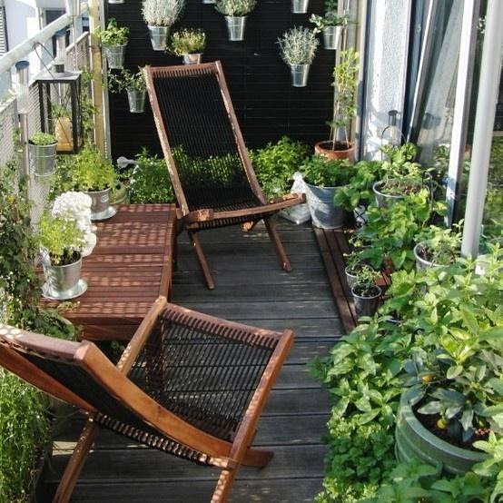 Scandinavian balcony with comfortable lounge chairs-Trendy designs for outdoor home spaces