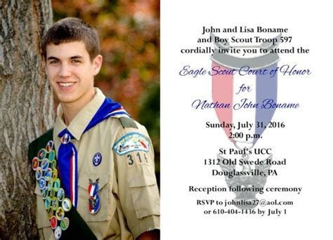 Simple Honors (Photo) Eagle Scout Invitation