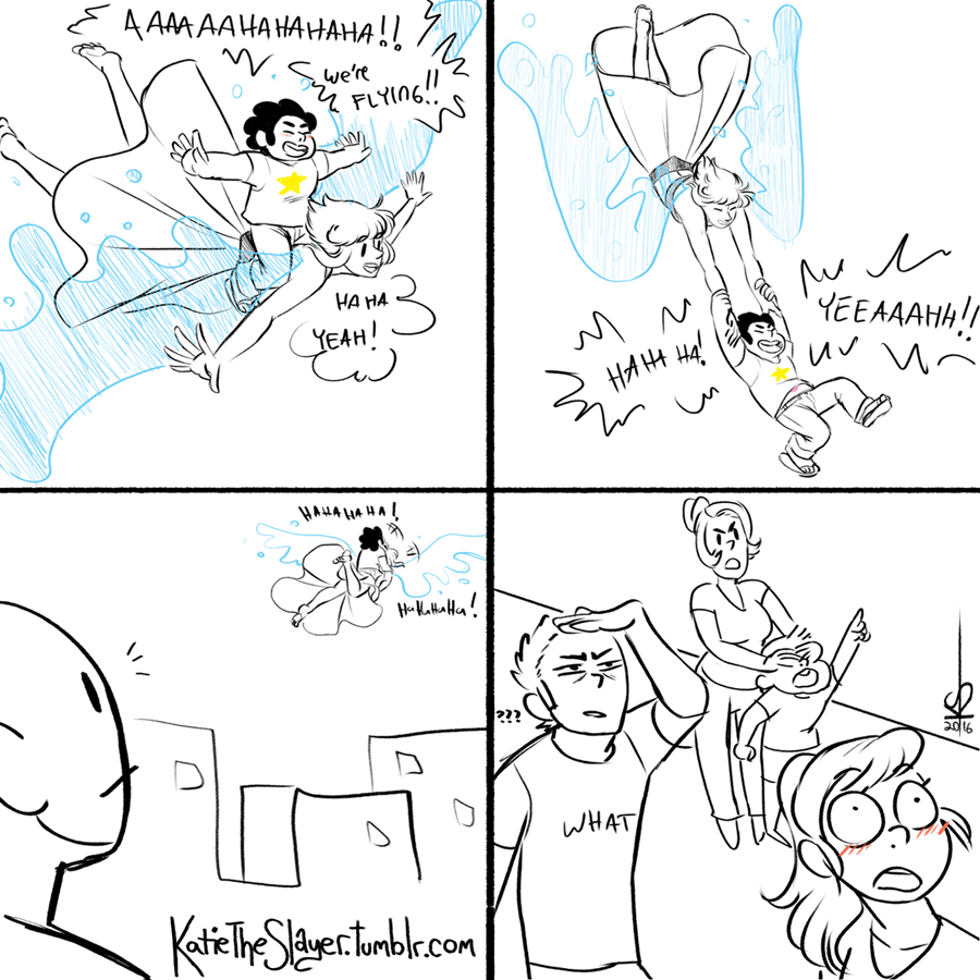 Drew this shitty comic because this is literally all I can think of when I see the promos for Same Old World. Just how many people is Lapis flashing?