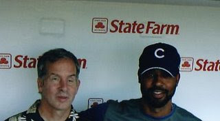 Mike with Cubs first base man, Derrek Lee