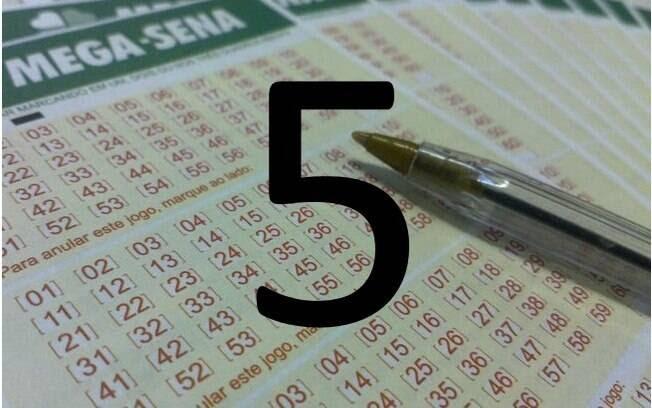 O campeão da Mega-Sena: o número 5 foi sorteado 196 vezes desde o início da loteria, em 1996  . Foto: Divulgação