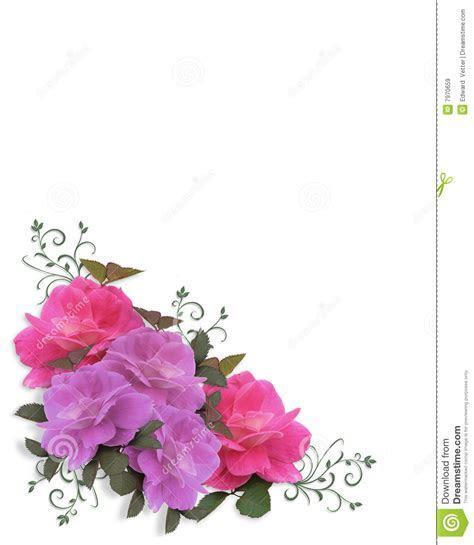 Wedding Roses Corner Design Stock Illustration   Image